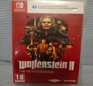 Nintendo switch lite + juego wolfestein