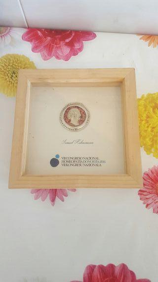 medalla plata comemorativo