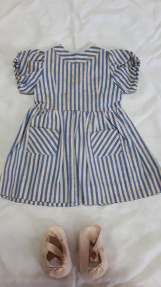 Vestido Rayas Mariquita Pérez años 50.