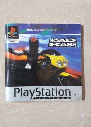 Libro Road Rash PS1 PLATINUM