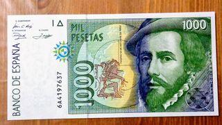 Billete de 1000 pesetas 1992.