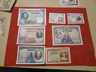 7 billetes de España por 16 euros