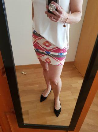 Minifalda Zara T.M