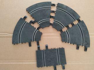 4 Curvas interiores y 1 recta 10 cm Ninco