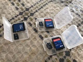 3 Tarjetas micro SD + 3 Adaptadores