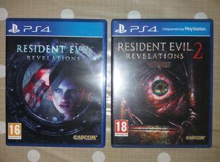 Resident evil 1 y 2 Revelations Ps4