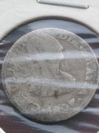 Medio real de plata de 1807 (Carlos IV)