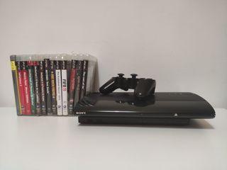 Play Station 3 + pack de videojuegos