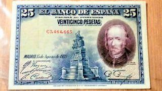 Billete de 25 pesetas 1928.