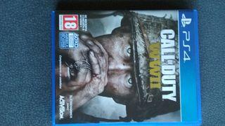 juego PS4 call of duty wwII vendo o cambio