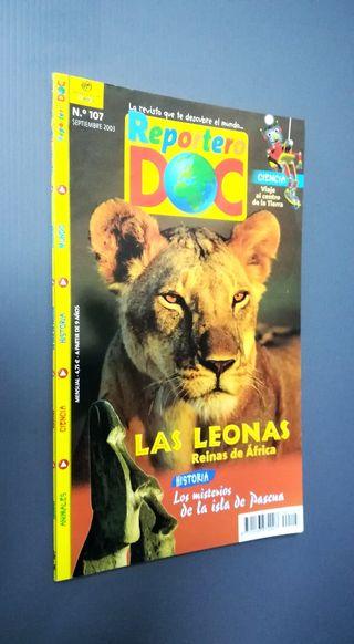 n107. REPORTERO DOC.. Las leonas, Isla de Pascua