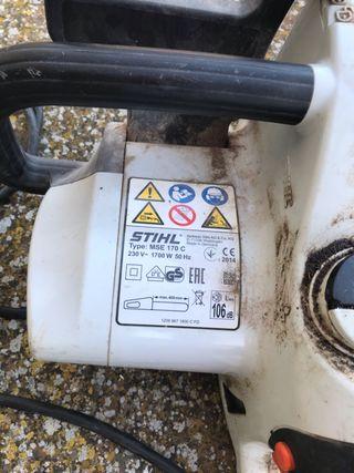 Motosierra stihl eléctrica