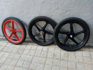 ruedas bicicleta bmx antigua