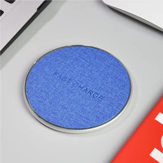 Cargador Móvil Inalámbrico - Marrón Azul
