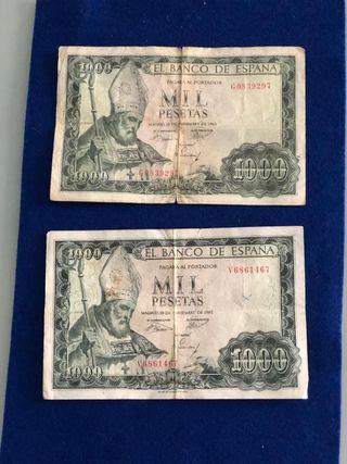 Billete de 1000 pesetas de 1965