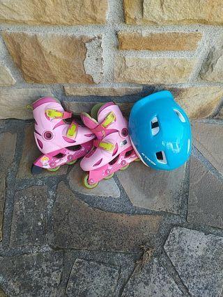 Patines niña con casco