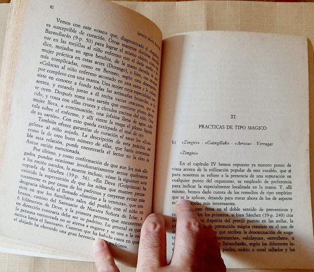 libro antiguo medicina popular vasca