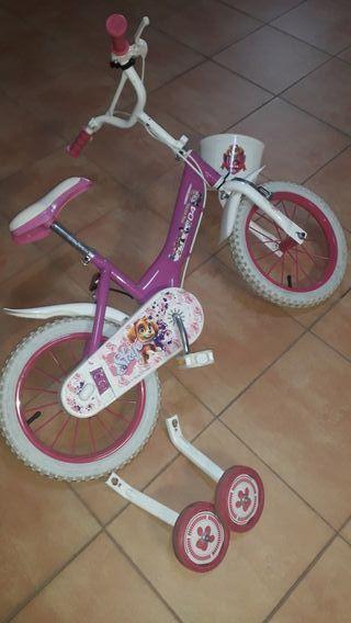 bicicleta infantil 14 pulgadas skye Patrulla canin