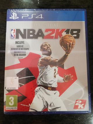 NBA 2k18 PS4 Kyrie Irving Precintado