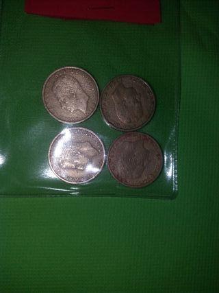 4 monedas de 100pesetas