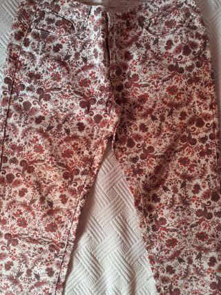 Pantalón flores S