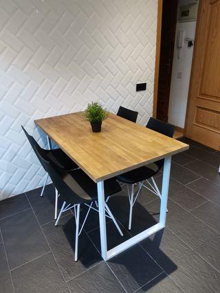 Mesa estilo industrial nórdico
