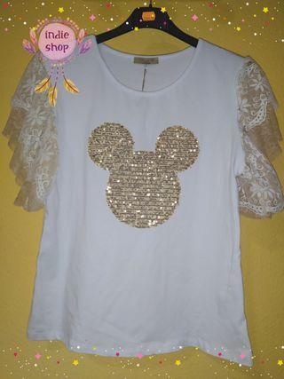 camiseta MICKEY dorada