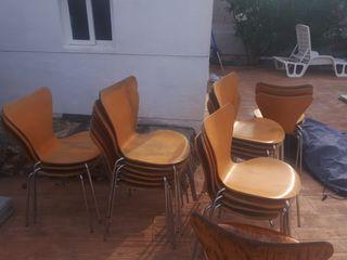 sillas de madera para jardin