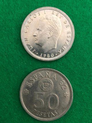 Moneda 50 pesetas mundial 82