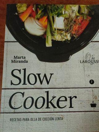 Lote 2 libros de recetas olla lenta
