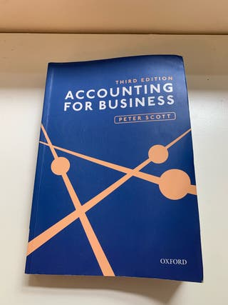 Accounting for Business by Peter Scott
