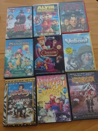 Peliculas dvds infantiles /juveniles originales