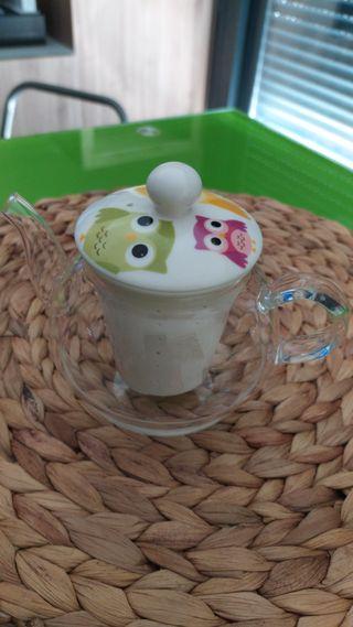 Tetera con filtro de porcela
