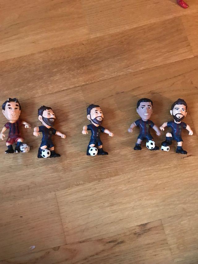 Ninots de futbolistes del Barça