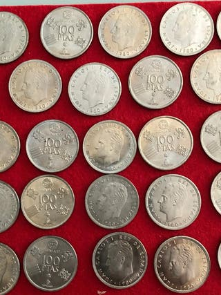 Monedas 100 pesetas estrella mundial 82 de 1980.