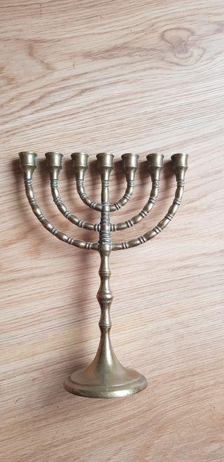 Candelabro 7 brazos judío bronce