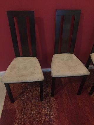 Sillas (4 sillas) para tapizar