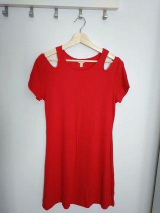 Vestido rojo manga corta Springfield