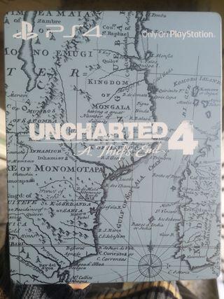 Uncharted 4 edición caja metálica