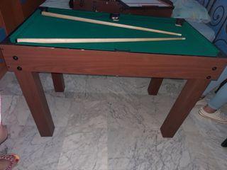mesa de billar y furbolin