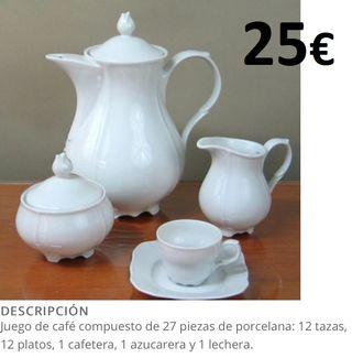 juego de cafe 27 piezas porcelana grand calidad