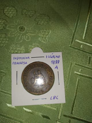 Moneda Indochina Francesa 1888A