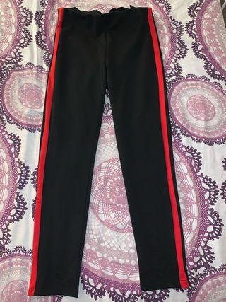 Leggings negra con raya