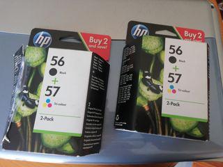 cartuchos HP 56-57, impresora de regalo