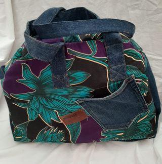 bolso de mano con tela africana