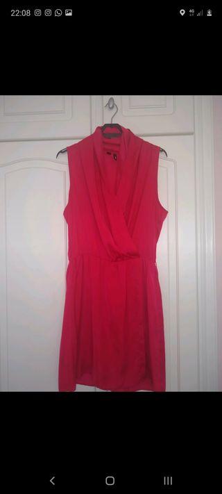 Vestido rojo solapa