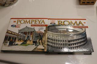 2 libros ROMA RECONSTRUIDA Y POMPELLA RECONSTRUIDA