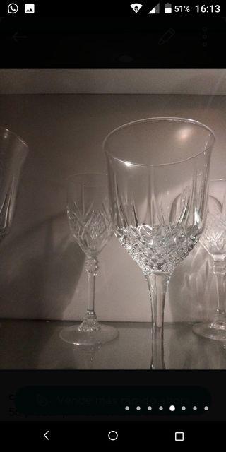 cristalería de cristal de arqués de 56 piezas