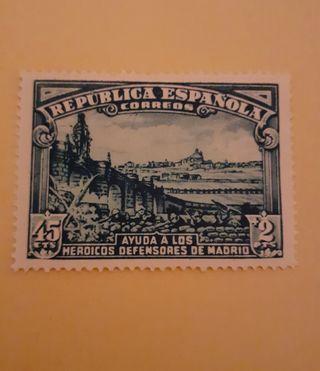 sello República 1938 nuevo