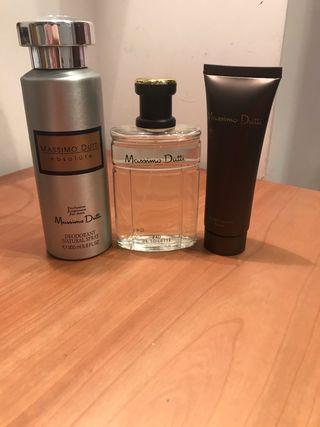 Pack colonia+desodorante+after shave massimo dutti
